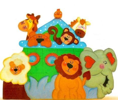 Un colorido arca infantil