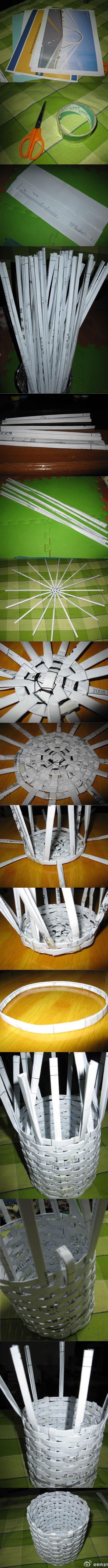 DIY-cestos-de-papel-de-periodico