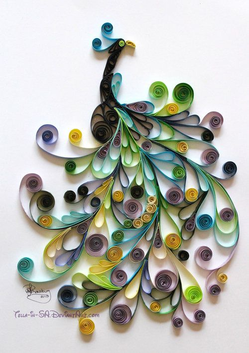 quilling-pavo-real