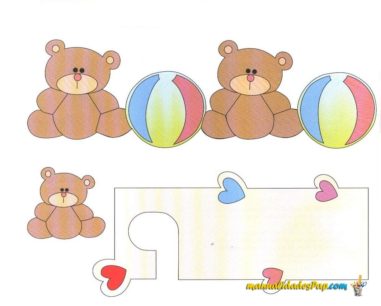 moldes decoracion cuarto de bebes